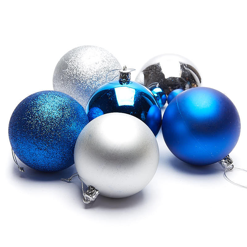 Blue and Silver Christmas Ball Ornaments - Christmas ...