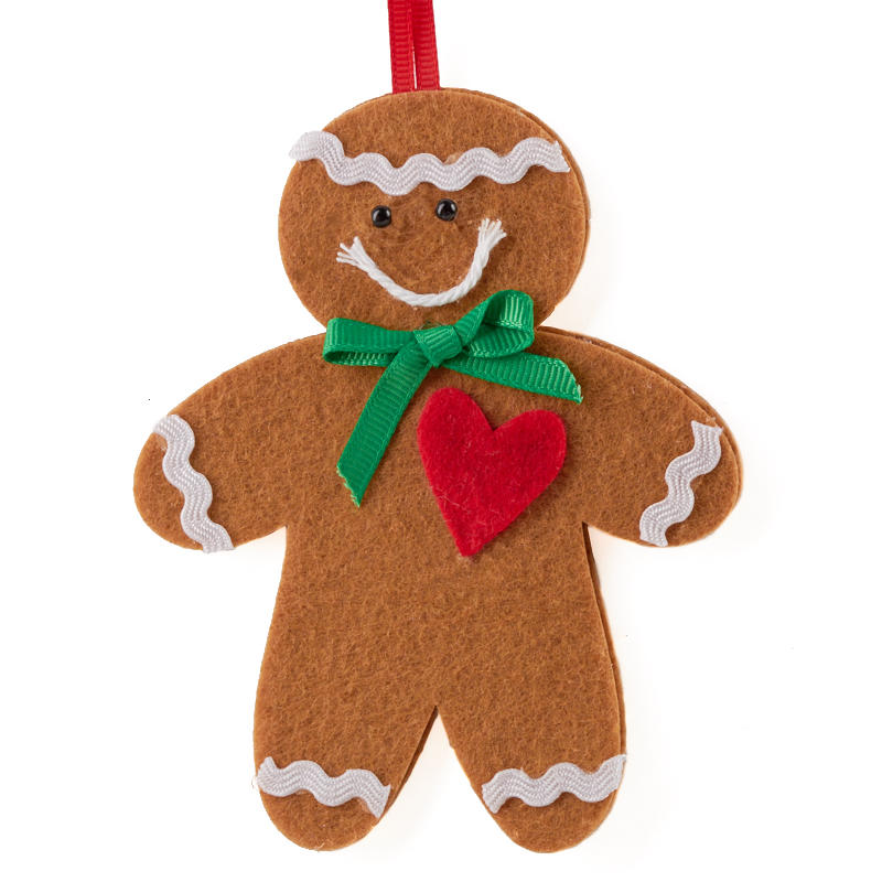 Click Here For A Larger View - Felt Gingerbread Man Christmas Ornament Kit - Activity Kits - Kids