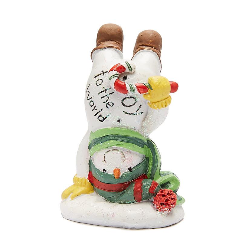 "Loblaws Christmas Decorations: ""Joy To The World"" Snowman Christmas Figurine"