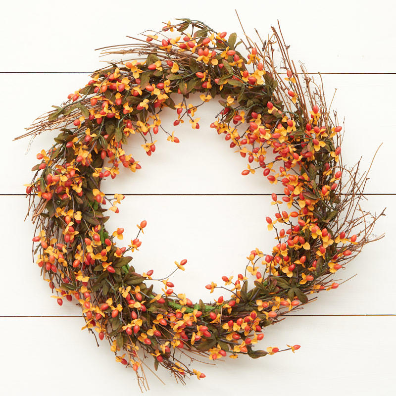 Artificial bittersweet wreath on sale craft supplies for Craft wreaths for sale