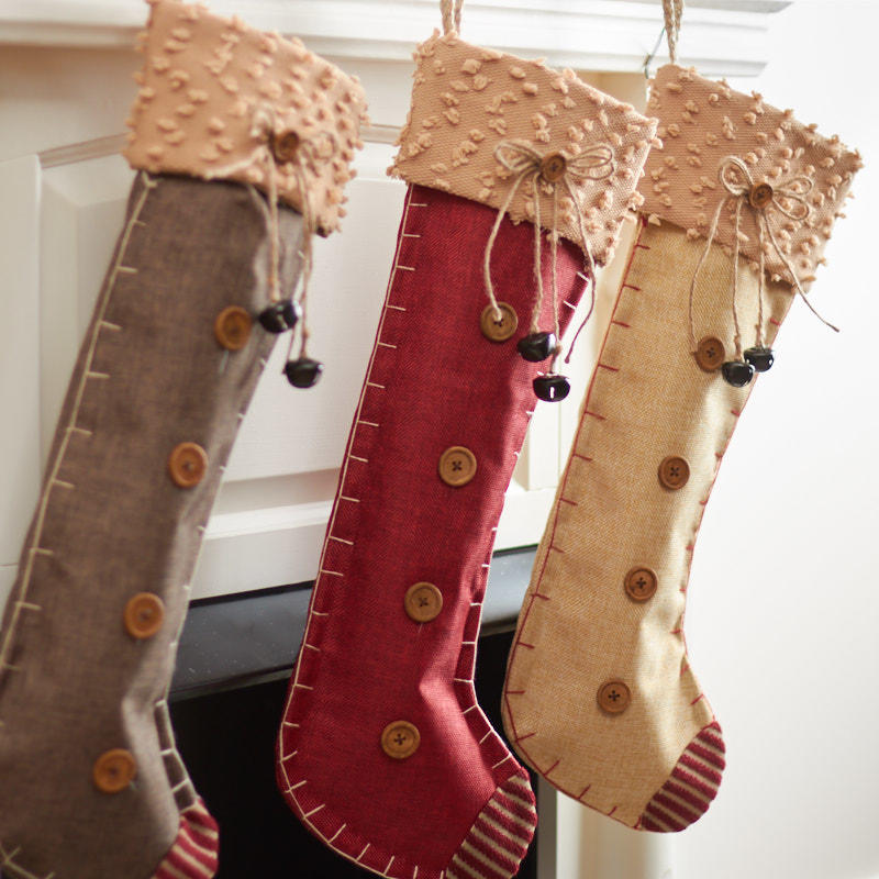 Burlap Christmas Stockings.Primitive Burlap Christmas Stocking Christmas And Holiday
