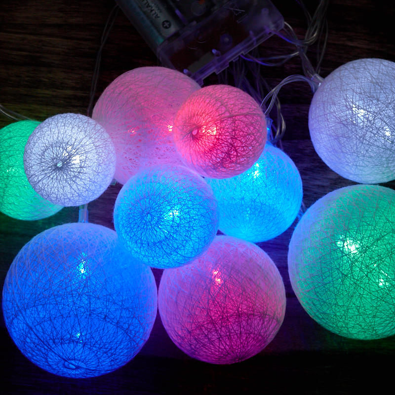 Multi Colored LED Globe Lantern String Lights - recvd