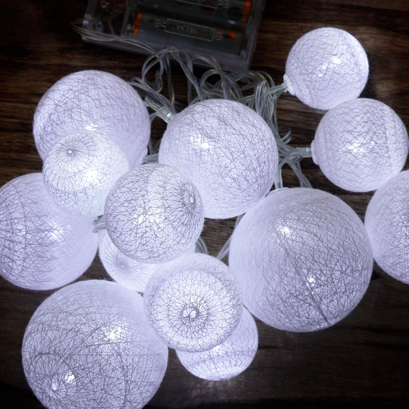 Globe Lantern String Lights : White Globe Lantern LED String Lights - Lighting - Christmas and Winter - Holiday Crafts
