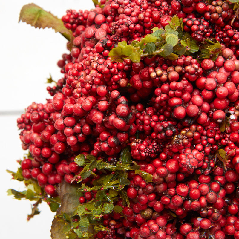Red Artificial Berry Cluster Kissing Ball Christmas