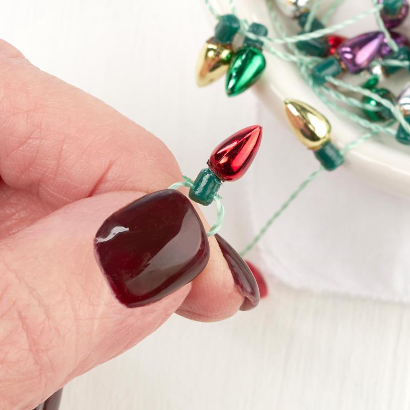 Miniature Christmas Light Bulb Garland - Christmas ...