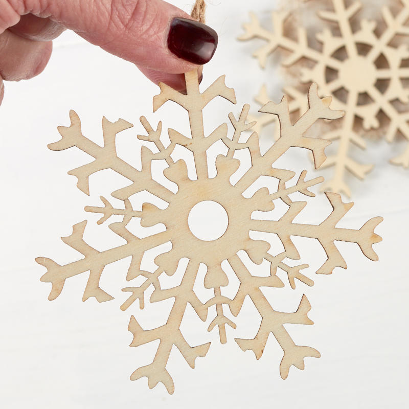 Unfinished Wood Snowflake Laser Cut Ornaments Snow