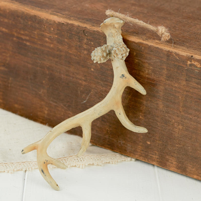 Faux deer antler ornament table decor christmas and for Fake deer antlers for crafts