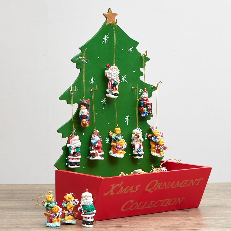 Christmas ornament and display tree set table decor