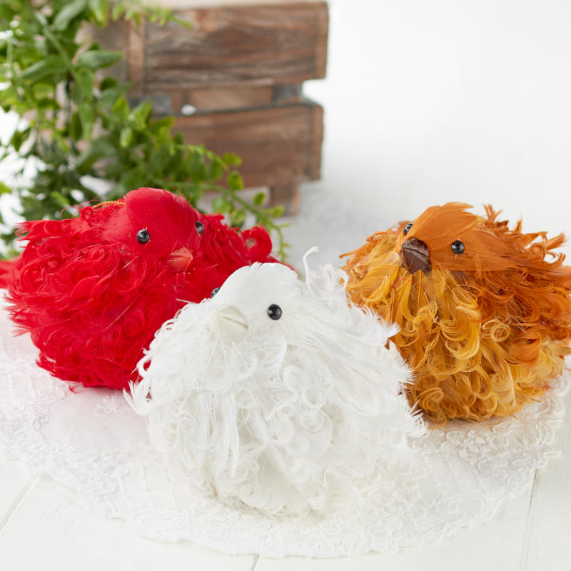 Feathered artificial bird ornament artificial birds and for Feathered birds for crafts