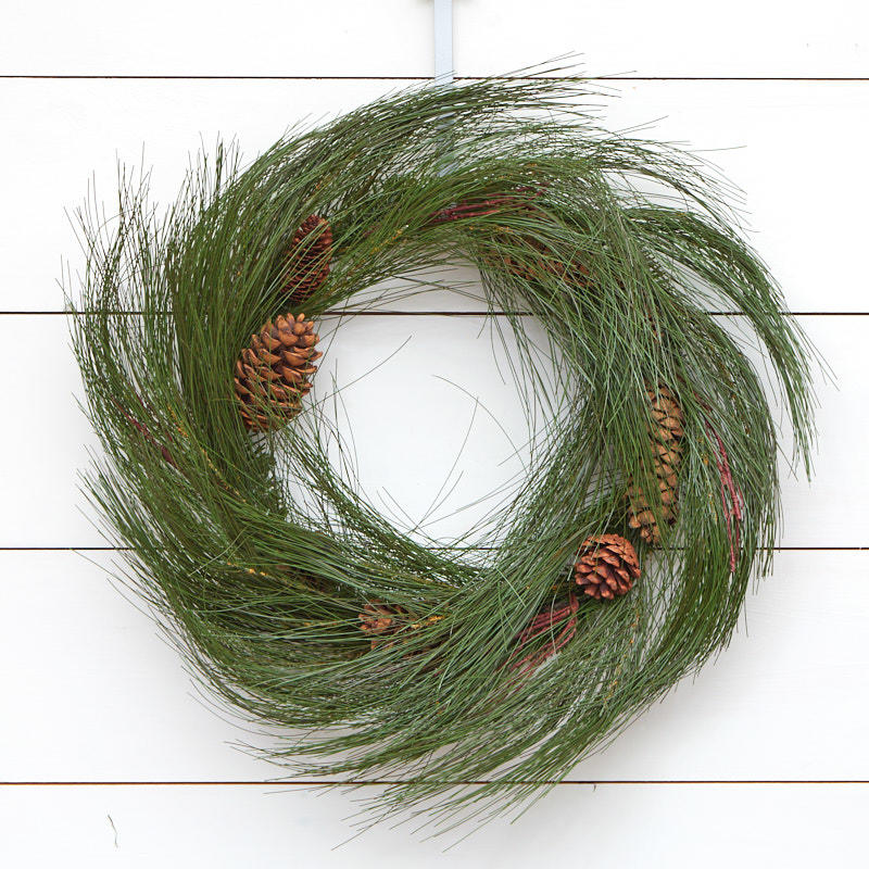Artificial Long Needle Pine Wreath Wreaths Floral Supplies Craft Supplies Factory Direct Craft
