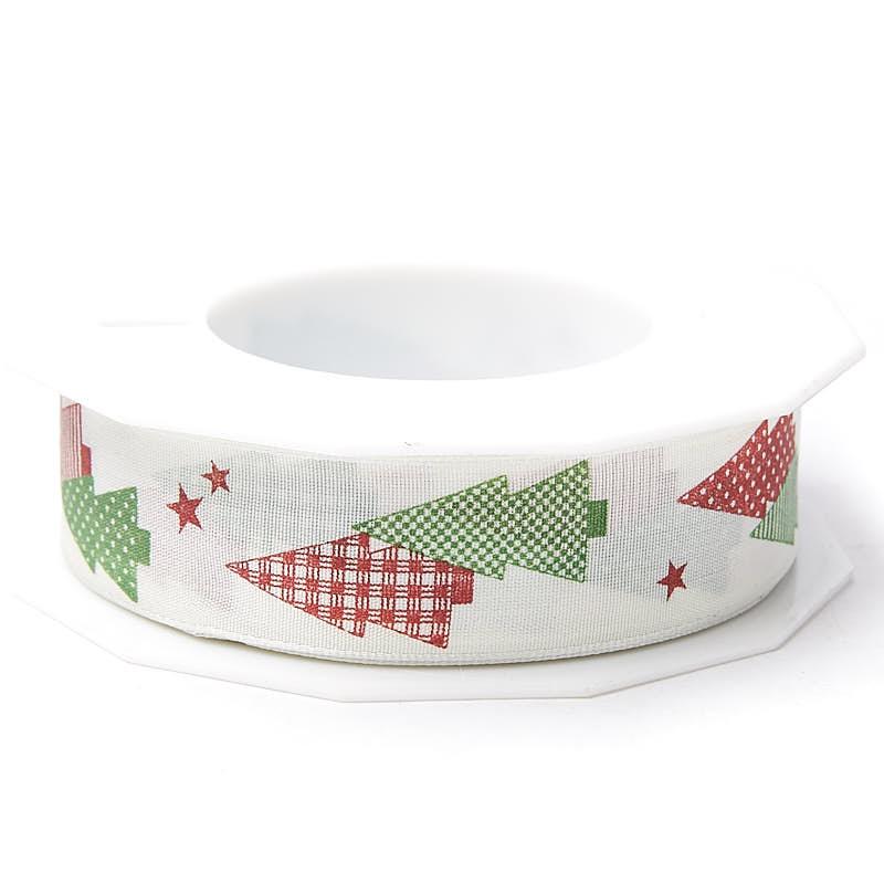 Feliz Navidad Christmas Tree Wired Ribbon