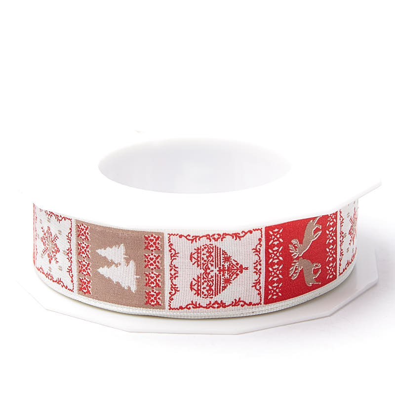 Scandinavian Christmas Wired Ribbon
