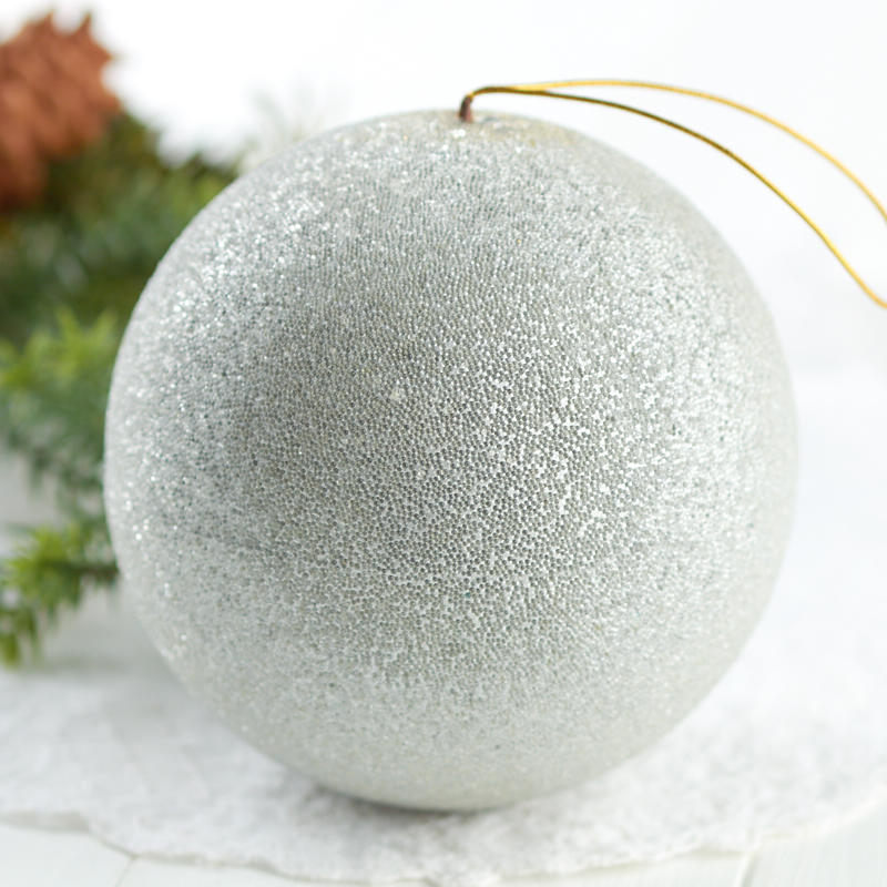 Silver Beaded Christmas Ball Ornament Christmas Ornaments Christmas And Winter Holiday Crafts Factory Direct Craft