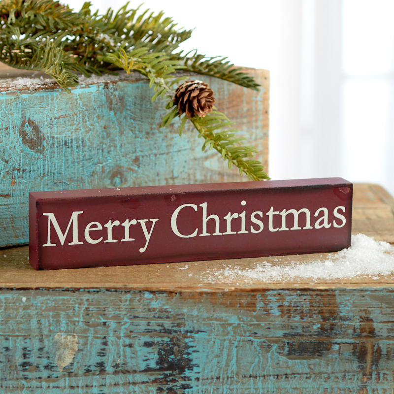 merry christmas block sign - Merry Christmas Decorative Blocks