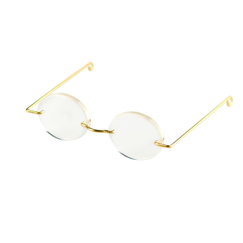 Rimless Gold Frame Oval Doll Glasses - Doll Accessories - Doll ...