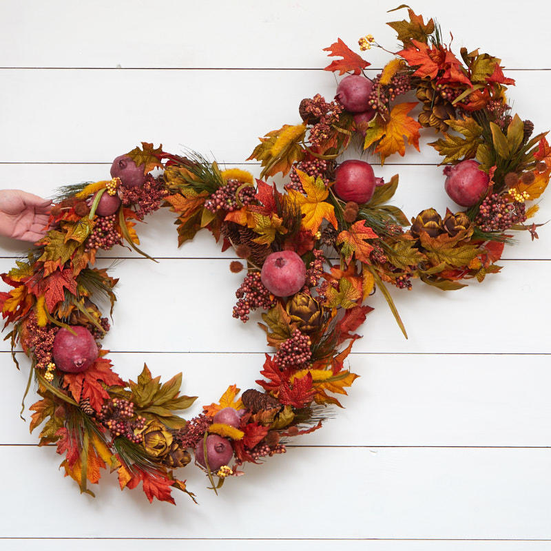 Autumn artificial foliage wreath set on sale craft for Craft wreaths for sale