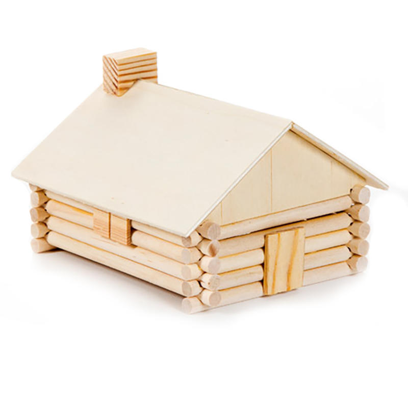 Wood model log cabin kit activity kits kids crafts for Wooden craft supplies online