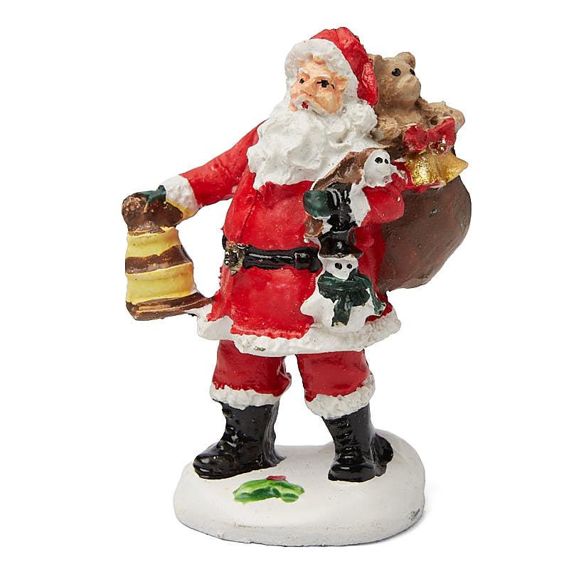 Miniature santa claus village figurine table decor