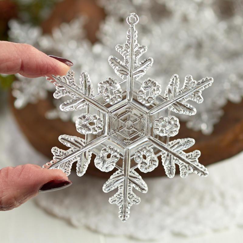 Clear Acrylic Snowflake Ornaments - Snow - Snowflakes ...
