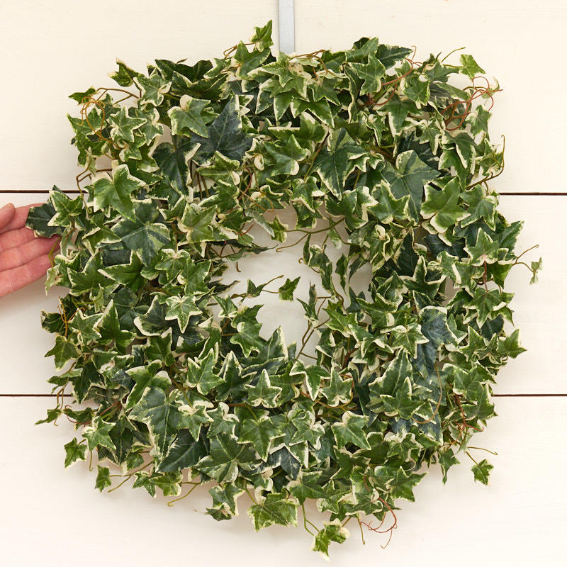 variegated artificial ivy wreath wreaths floral supplies craft