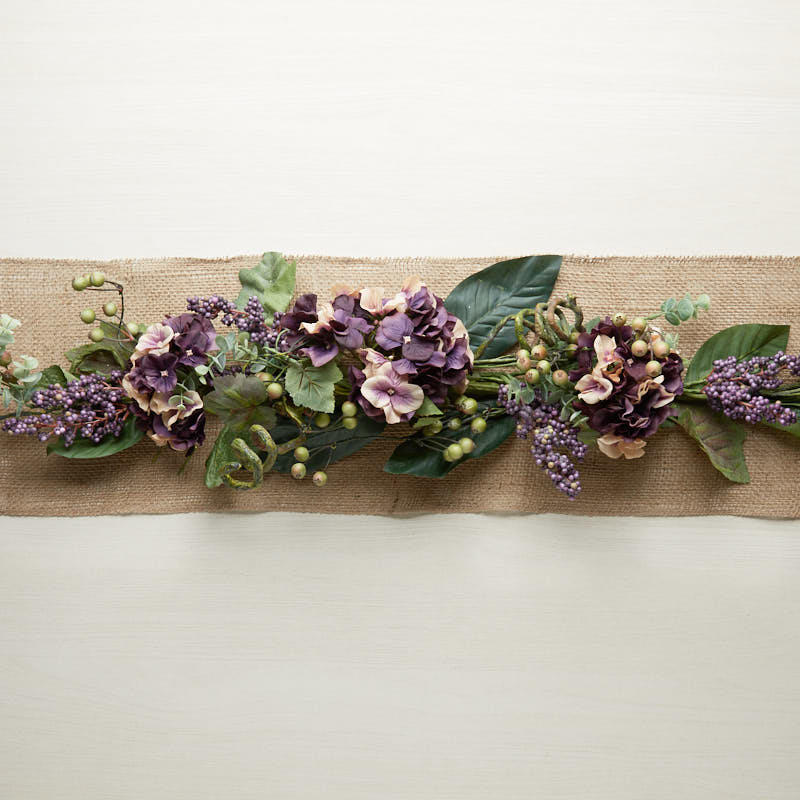 Purple Artificial Hydrangea and Berry Swag  Garlands  Floral Supplies  Craft Supplies
