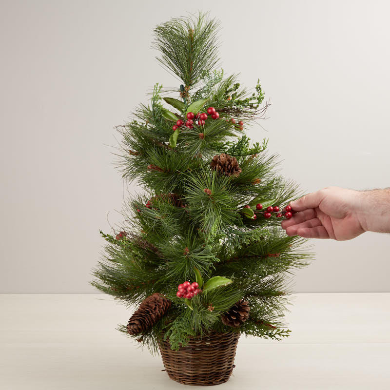 Artificial Pine and Berry Tree Topiary - Trees and Toppers ...