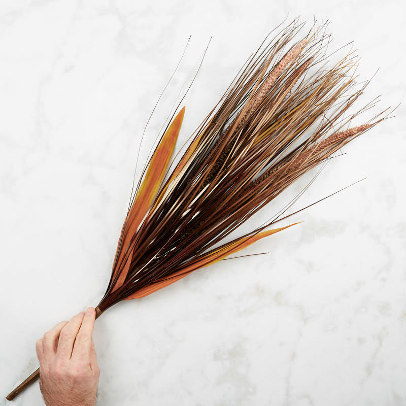 Dried artificial feather reedgrass bush new items for Synthetic feathers for crafts
