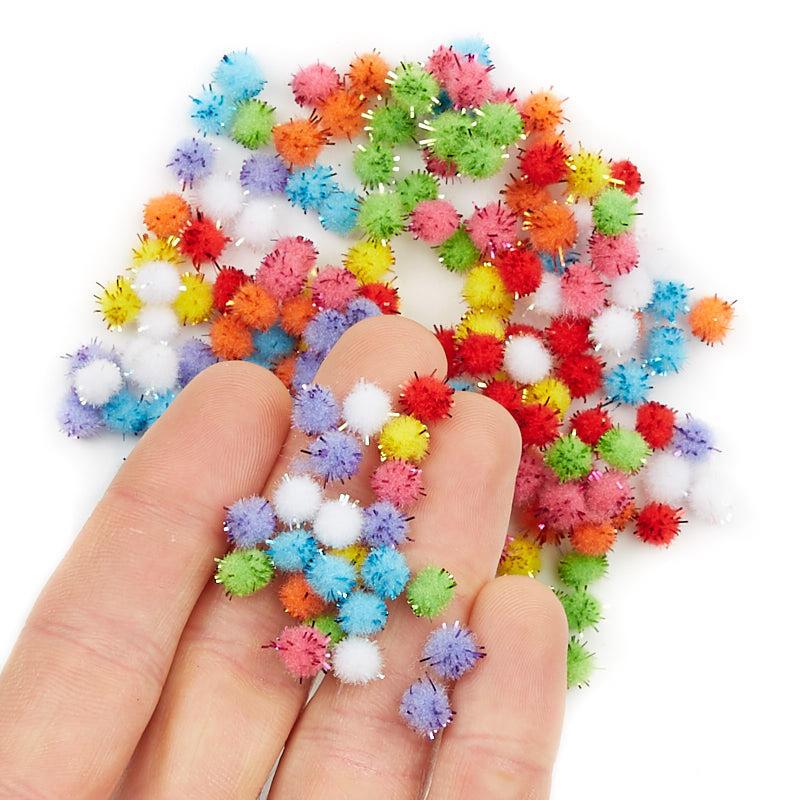 Assorted craft tinsel pom poms craft pom poms kids for Pom pom crafts