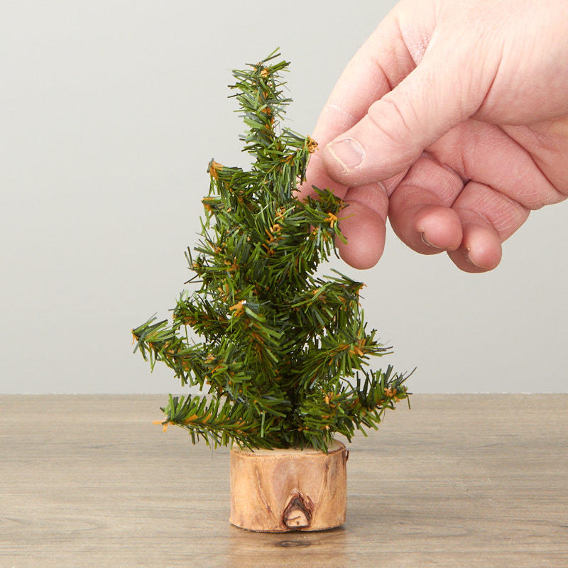 """Living Christmas Trees For Sale: 6"""" Small Artificial Pine Tree"""