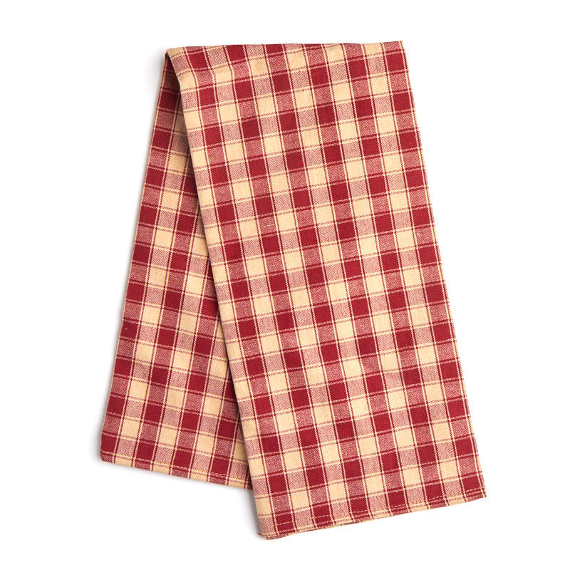 Red Kitchen Towels: Red House Check Dish Towel