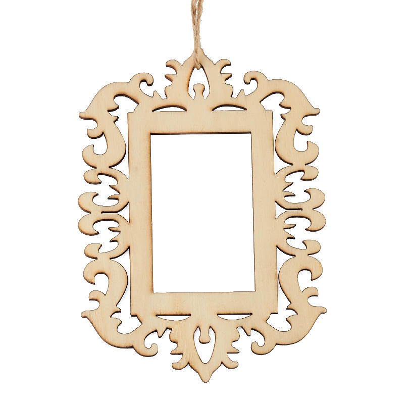 Laser Cut Unfinished Wood Picture Frame Ornaments - Wood Cutouts ...