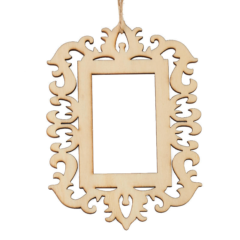 Laser Cut Unfinished Wood Picture Frame Ornament Wood Cutouts