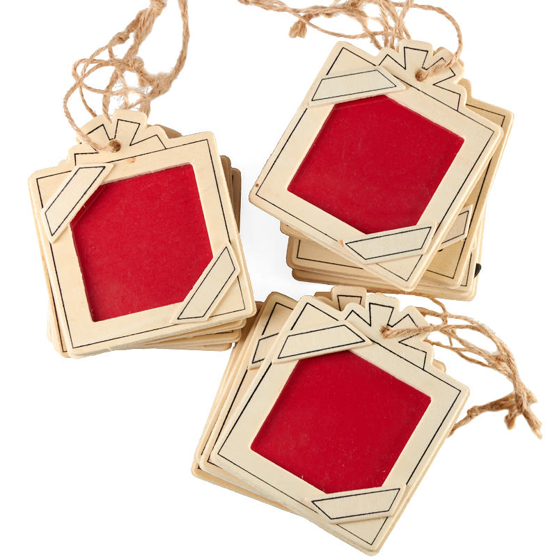 Unfinished Wood Picture Frame Ornaments - Christmas ...