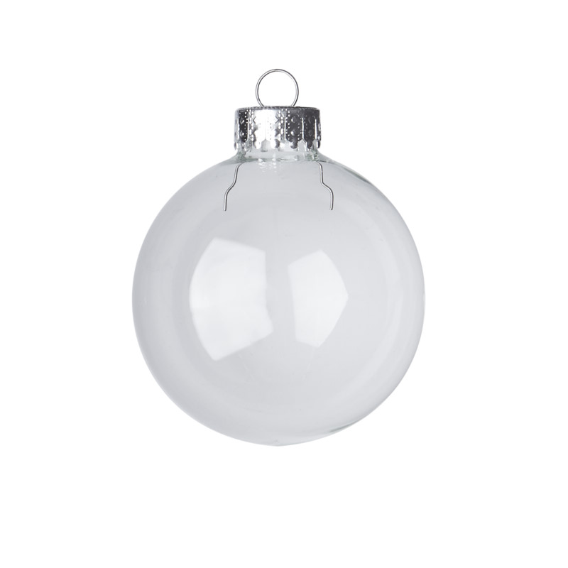 Clear Glass Ball Ornaments - Christmas Ornaments ...