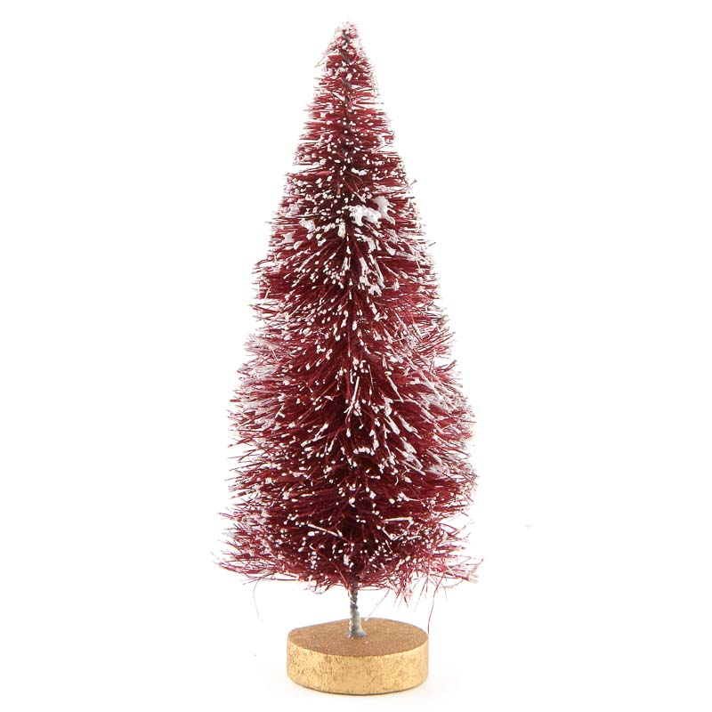 Frosted Berry Red Bottle Brush Tree Trees And Toppers