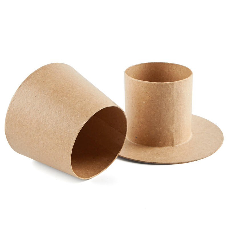 Paper mache top hat box new items for Best paper for paper mache