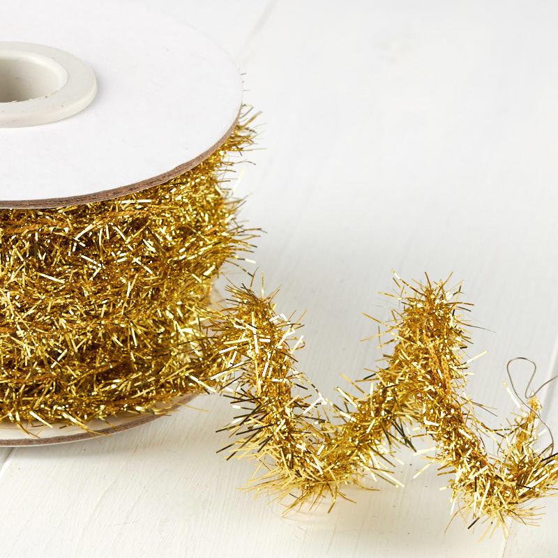 Gold tinsel rope garland christmas garlands
