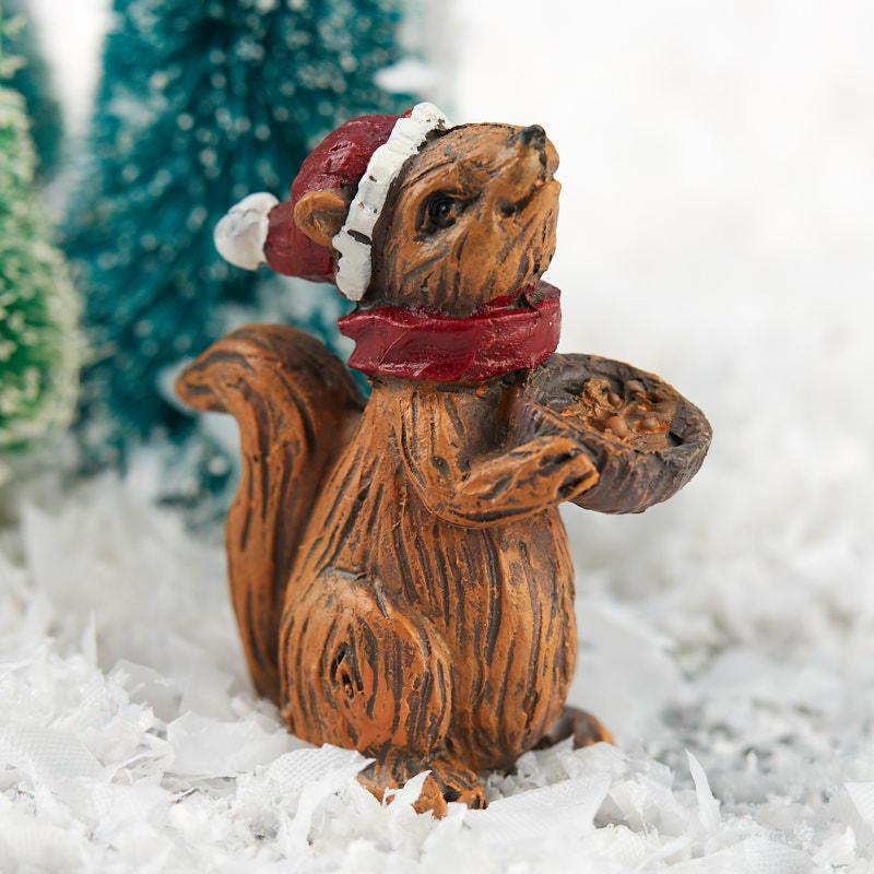 Christmas Squirrel.Miniature Christmas Squirrel