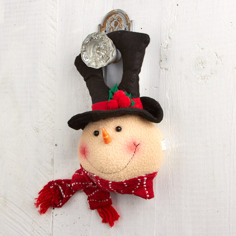 Click Here For A Larger View & Primitive Plush Snowman Door Hanger - Wall Art - Christmas and ...