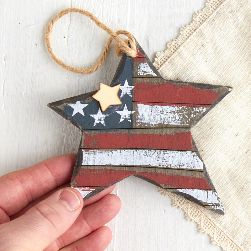 Primitive americana star ornament christmas ornaments for Americana crafts to make
