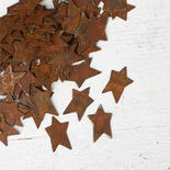 Tiny Rusty Tin Primitive Stars
