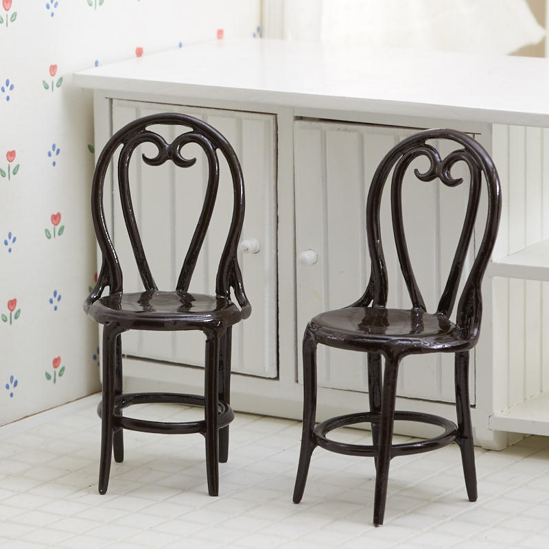 Dollhouse Miniature Cafe Chair Set
