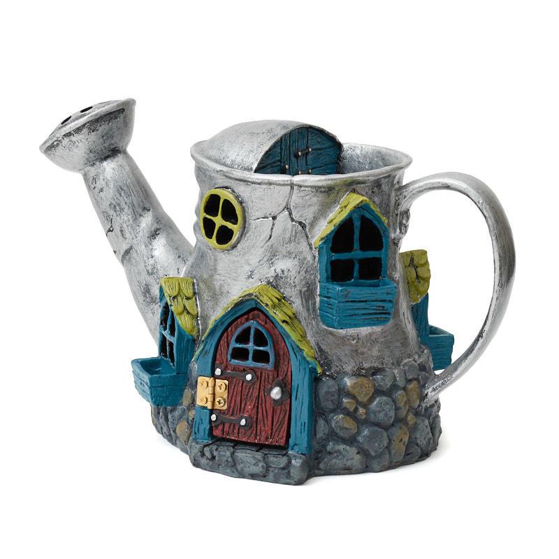 Gnome Garden: Miniature Fairy Garden Watering Can House
