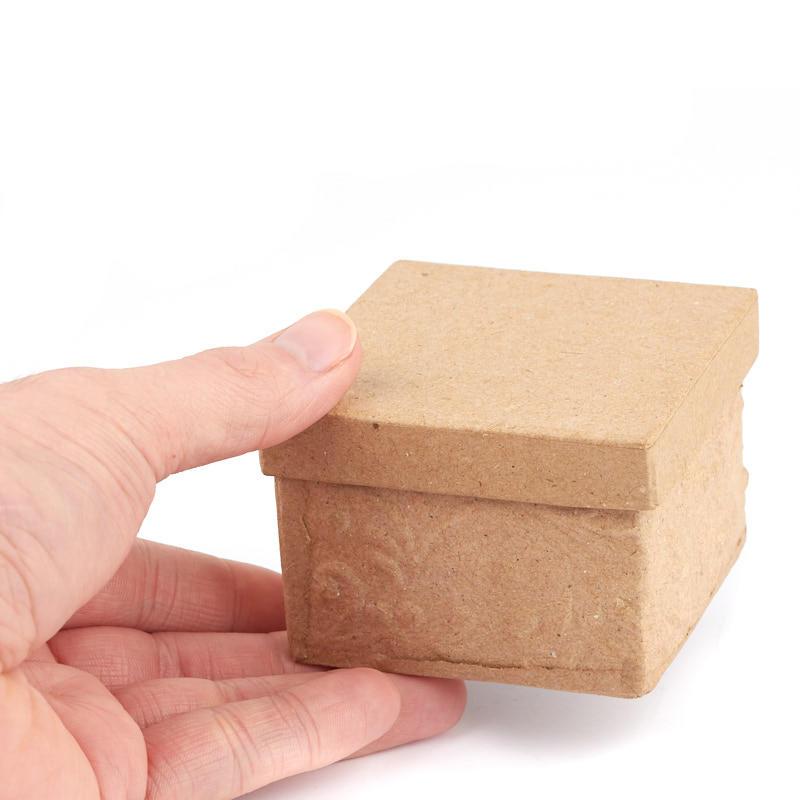 Paper mache square embossed box paper mache basic for Perfect paper mache