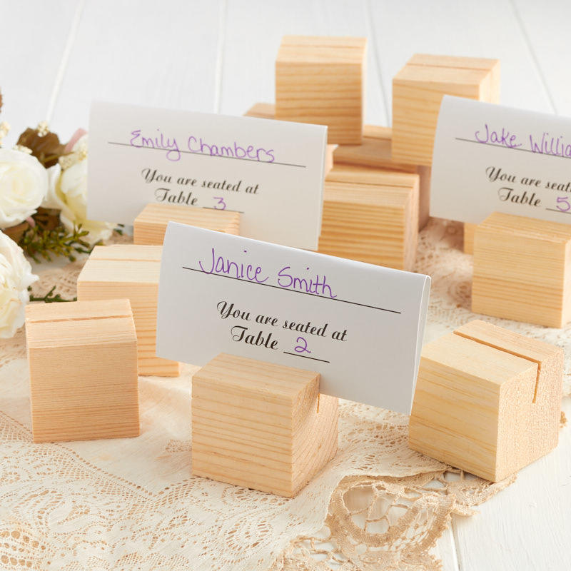 Wood Place Card Holders Placecards Place Card Holders Wedding