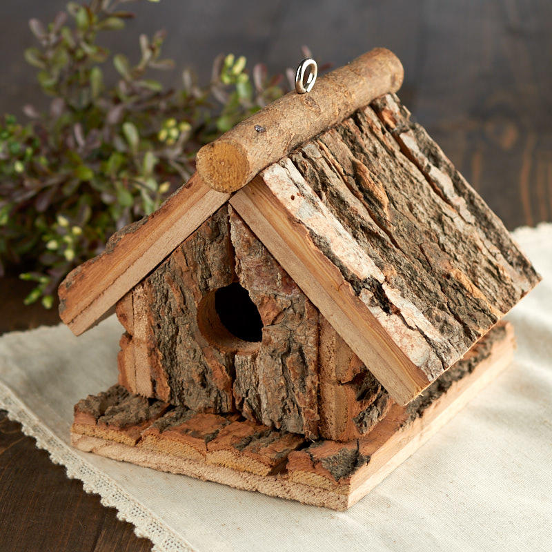 Strange Rustic Tree Bark Birdhouse Download Free Architecture Designs Scobabritishbridgeorg