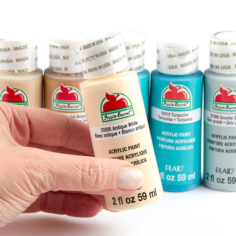 Coastal colors apple barrel acrylic paint set apple for Acrylic mural paint supplies