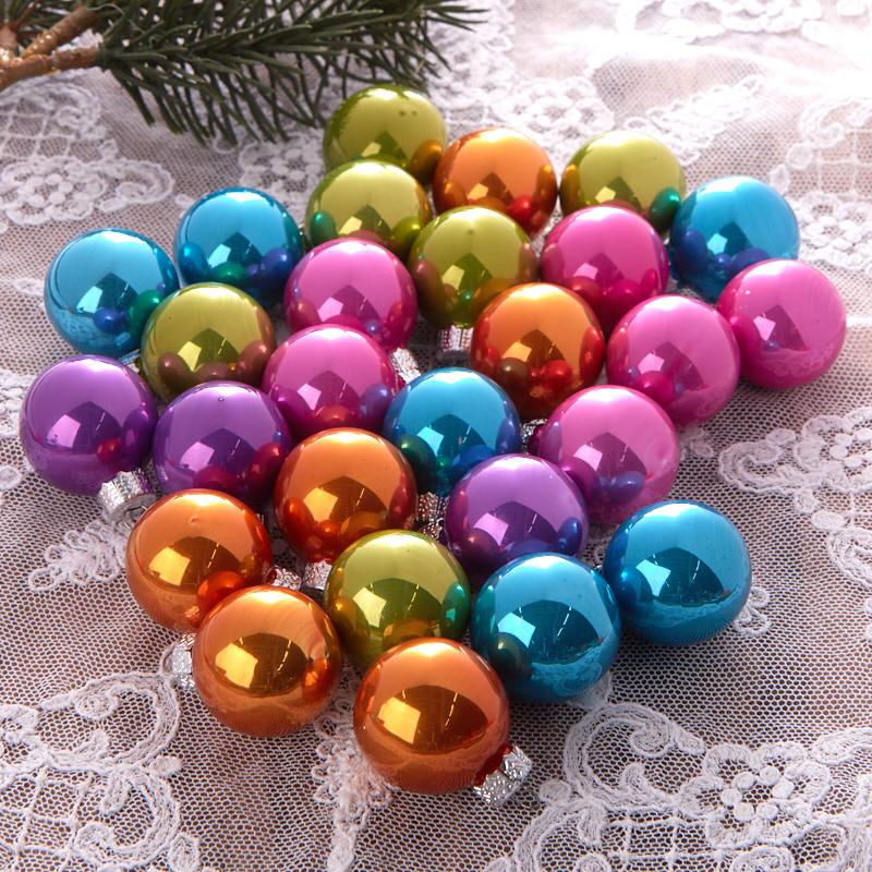 Miniature Neon Christmas Ball Ornaments