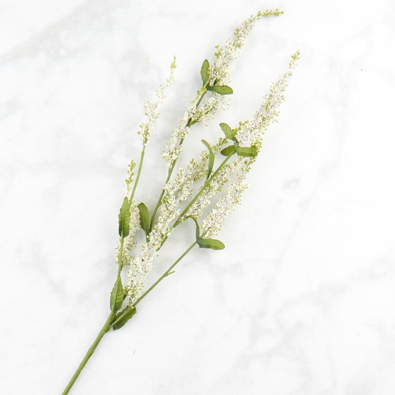White Artificial Veronica Speedwell Spray Stems Branches