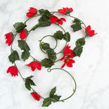 Artificial Poinsettia Garland